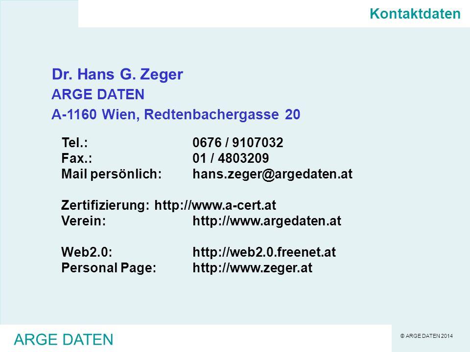 © ARGE DATEN 2014 ARGE DATEN Dr.Hans G.
