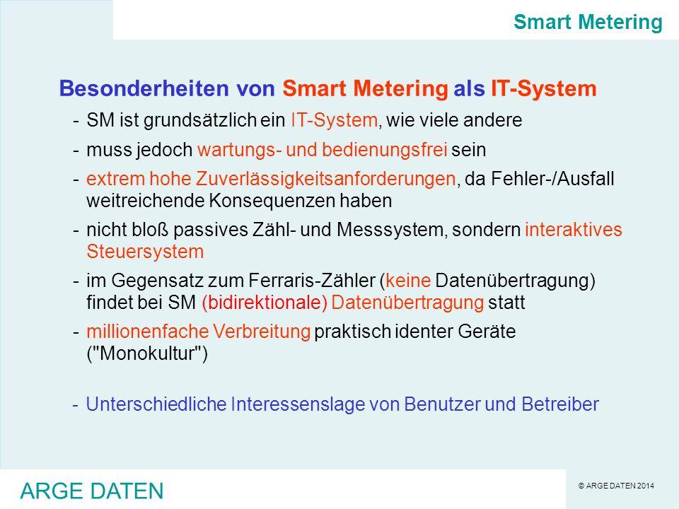© ARGE DATEN 2014 ARGE DATEN Brauchen wir überhaupt noch die planwirtschaftlich verordnete Smart Meter Einführung.