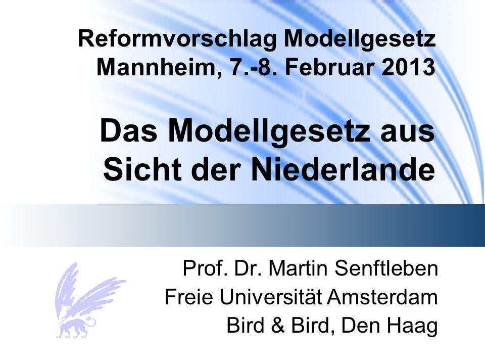 Reformvorschlag Modellgesetz Mannheim, 7.-8.