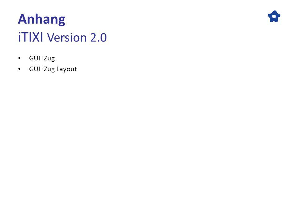 Anhang iTIXI Version 2.0 GUI iZug GUI iZug Layout