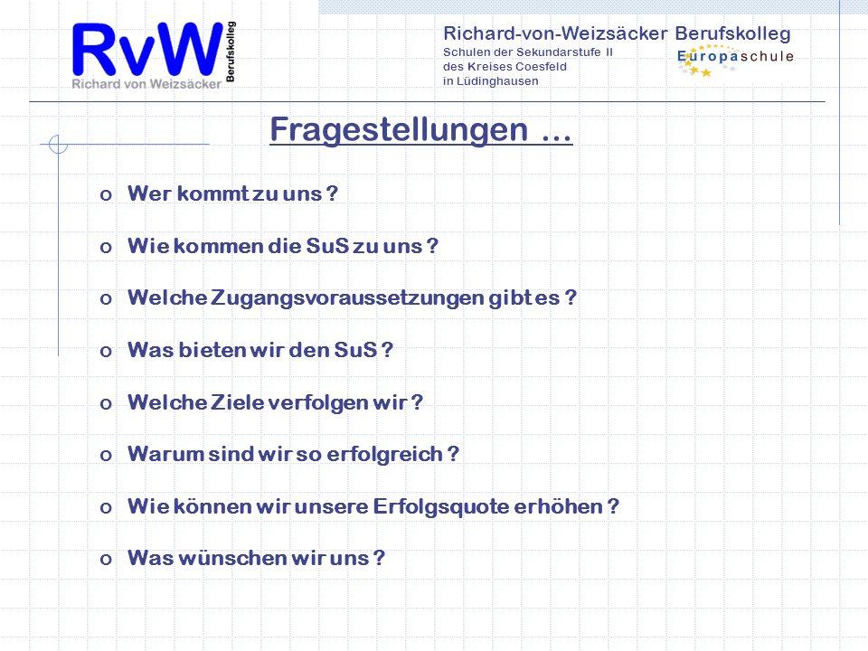Richard-von-Weizsäcker Berufskolleg Schulen der Sekundarstufe II des Kreises Coesfeld in Lüdinghausen oWer kommt zu uns .