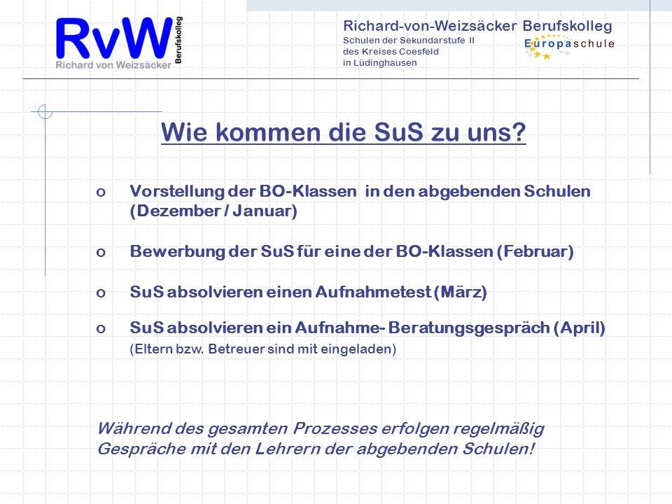 Richard-von-Weizsäcker Berufskolleg Schulen der Sekundarstufe II des Kreises Coesfeld in Lüdinghausen Wie kommen die SuS zu uns.