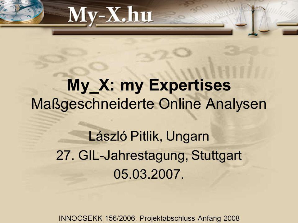 My_X: my Expertises Maßgeschneiderte Online Analysen László Pitlik, Ungarn 27.