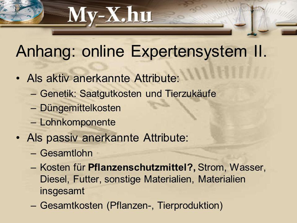 INNOCSEKK 156/2006 Anhang: online Expertensystem II.