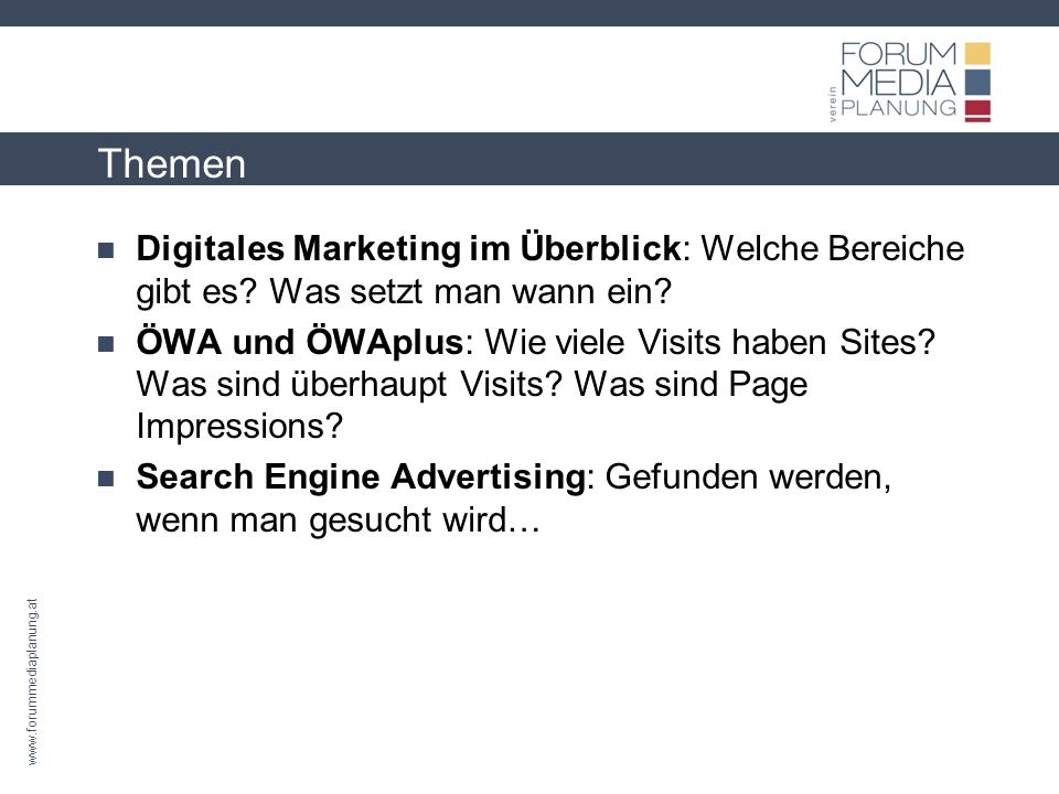 www.forummediaplanung.at Themen Social Media: Was ist Social Media wirklich.