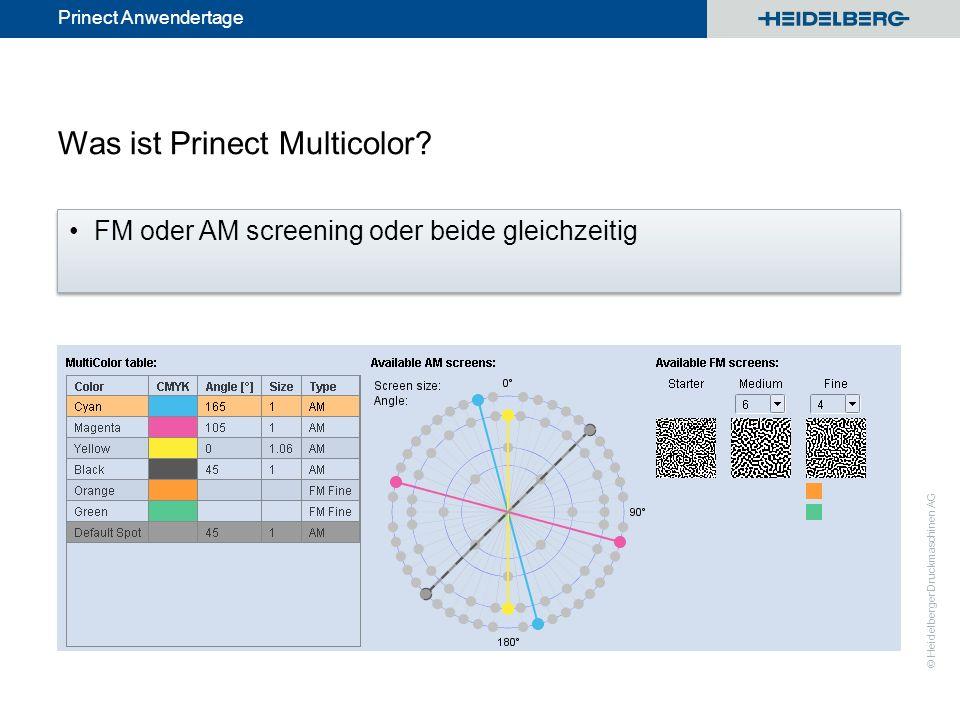 © Heidelberger Druckmaschinen AG Prinect Anwendertage Umrechnung PDF (CMYK plus Spot) nach PDF(CMYK plus Orange, Grün, Blau) 3.