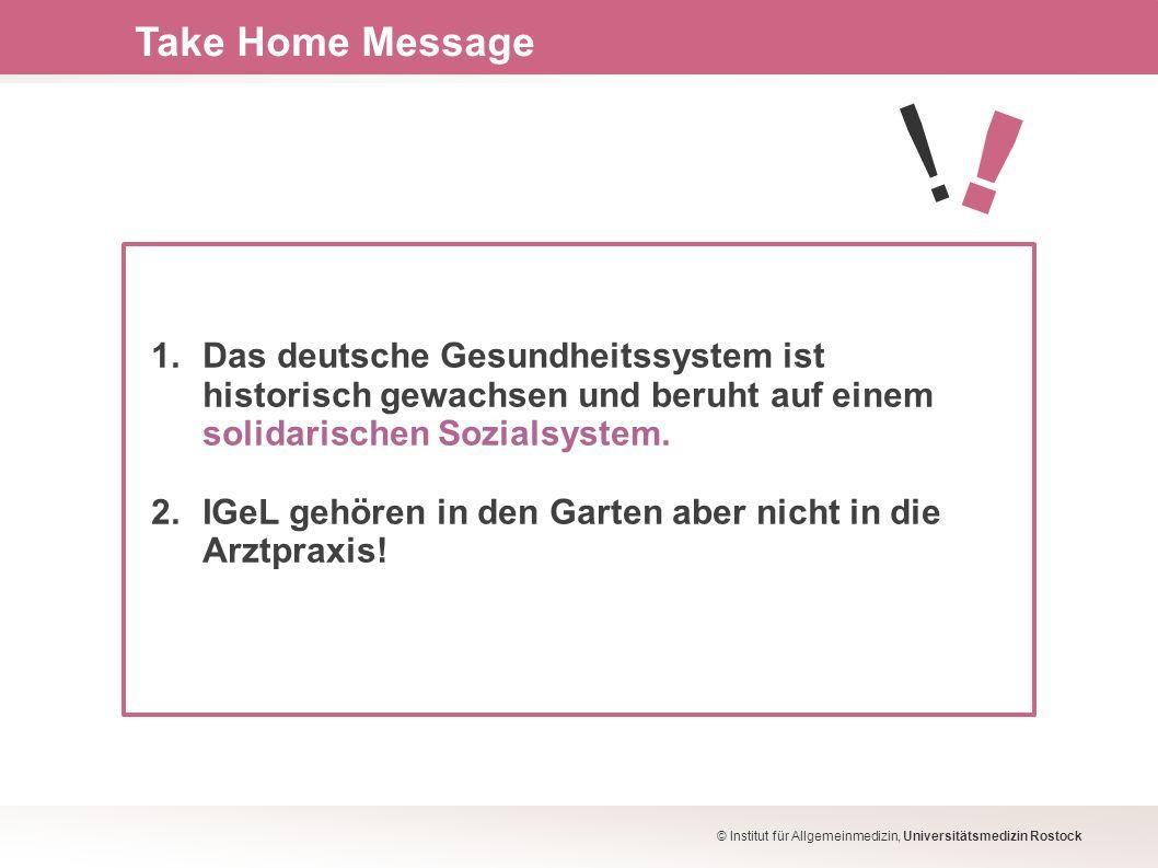 1. Das deutsche Gesundheitssystem ist historisch gewachsen und beruht auf einem solidarischen Sozialsystem. 2. IGeL gehören in den Garten aber nicht i