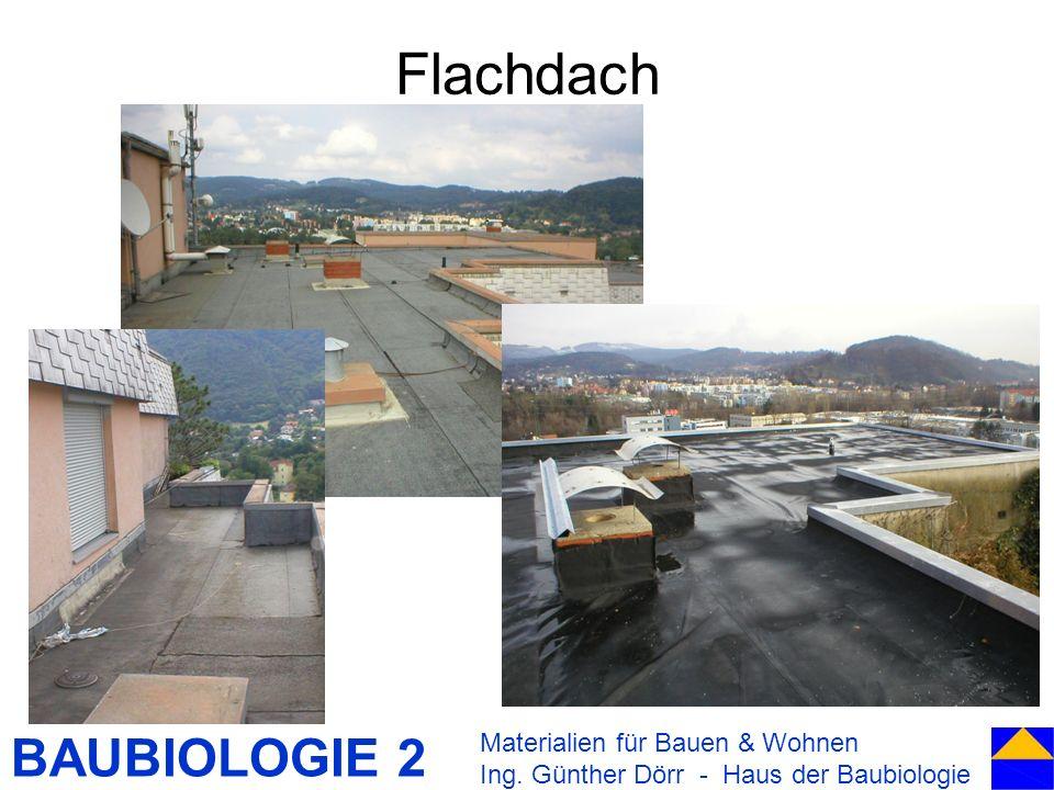 BAUBIOLOGIE 2 Flachdach Materialien für Bauen & Wohnen Ing. Günther Dörr - Haus der Baubiologie