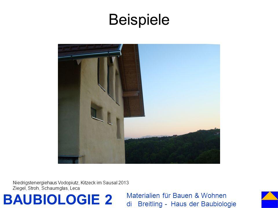 BAUBIOLOGIE 2 Beispiele Materialien für Bauen & Wohnen di Breitling - Haus der Baubiologie Niedrigstenergiehaus Vodopiutz, Kitzeck im Sausal 2013 Zieg