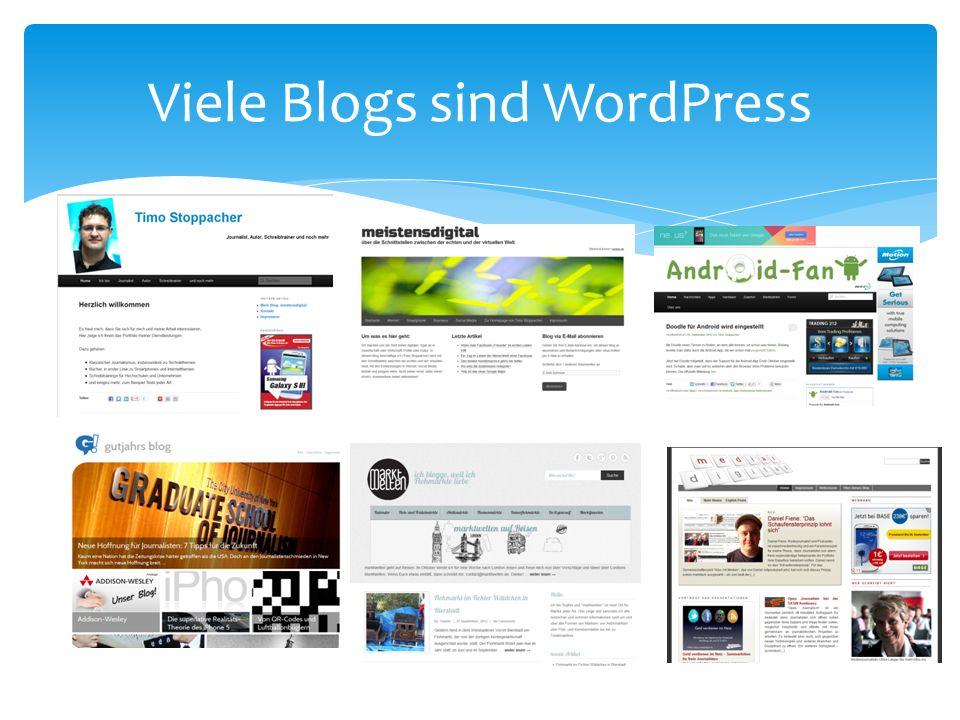 Viele Blogs sind WordPress