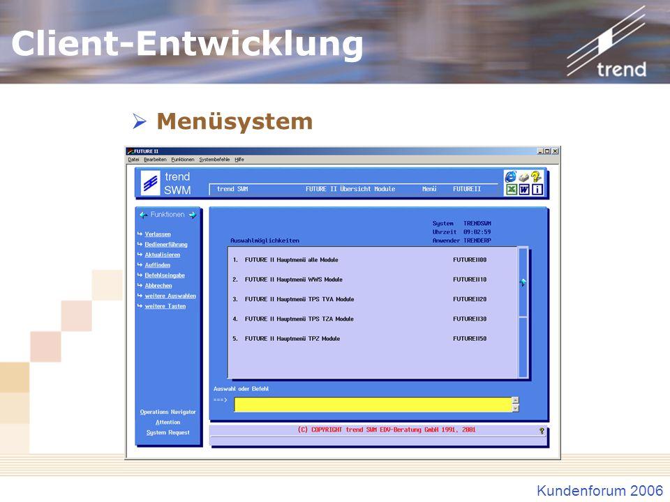 Kundenforum 2006 Identstamm-Formatverwaltung