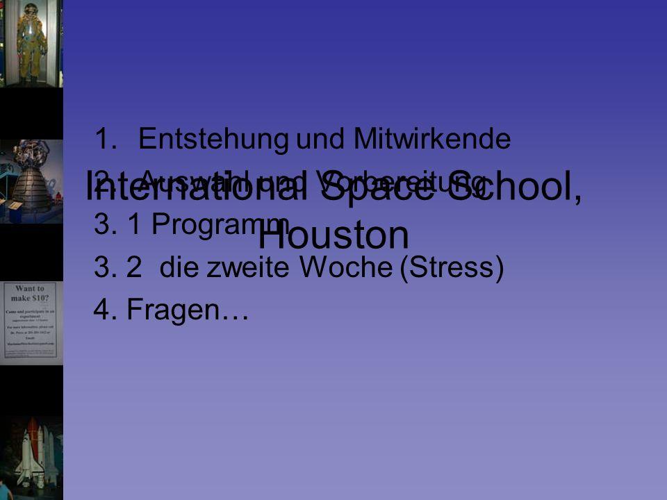 1.Entstehung und Mitwirkende 2.Auswahl und Vorbereitung 3.
