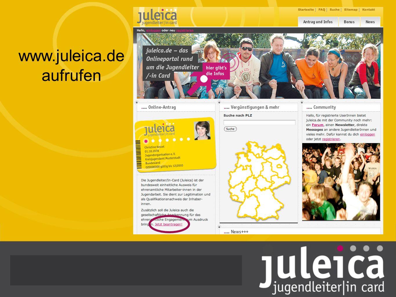www.juleica.de aufrufen