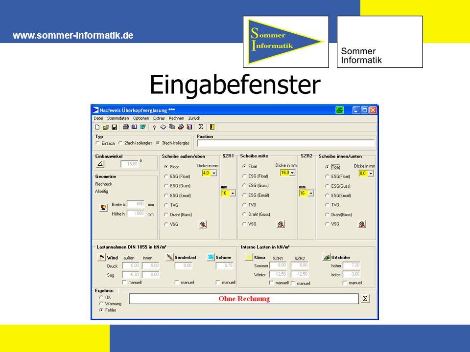 Eingabefenster www.sommer-informatik.de