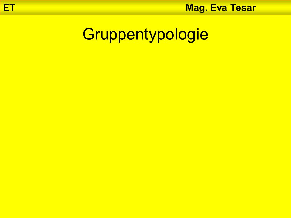 ET Mag. Eva Tesar Gruppentypologie