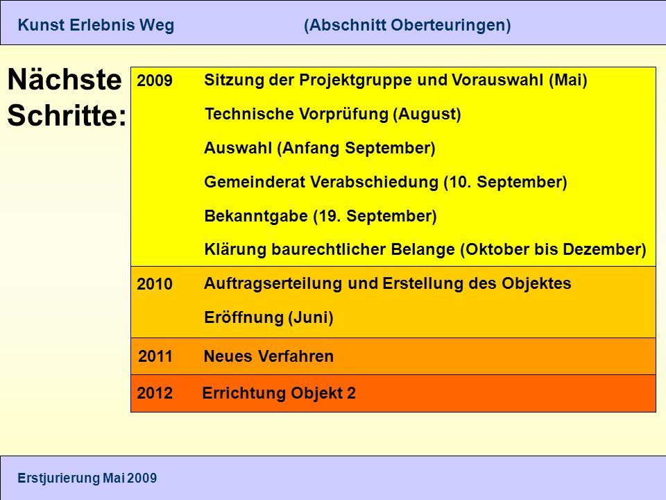 Nächste Schritte: Sitzung der Projektgruppe und Vorauswahl (Mai) Technische Vorprüfung (August) Auswahl (Anfang September) Gemeinderat Verabschiedung (10.