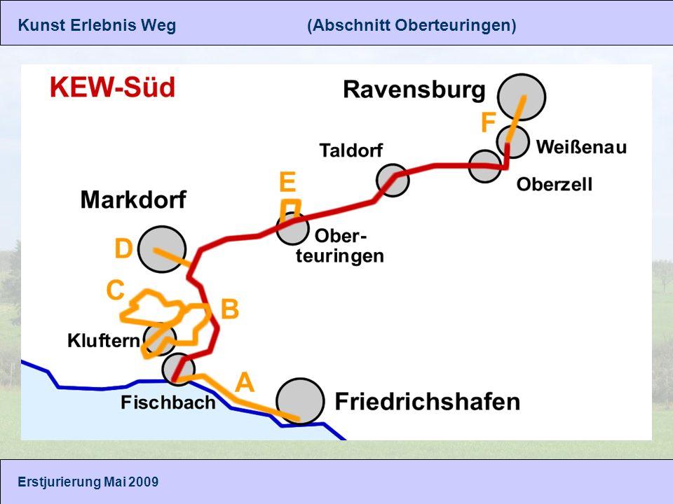 Kunst Erlebnis Weg (Abschnitt Oberteuringen) Gunar Seitz, Bernadette Siemensmeyer Erstjurierung Mai 2009