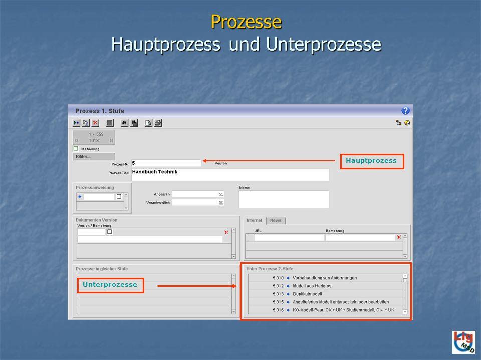 Prozesse Hauptprozess und Unterprozesse Hauptprozess Unterprozesse