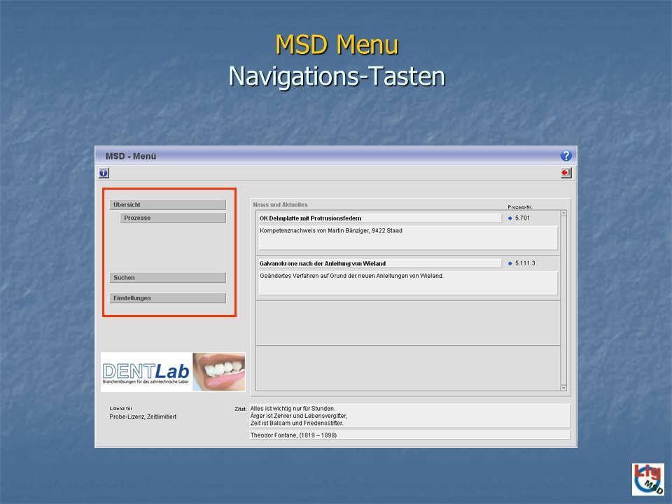 MSD Menu Navigations-Tasten