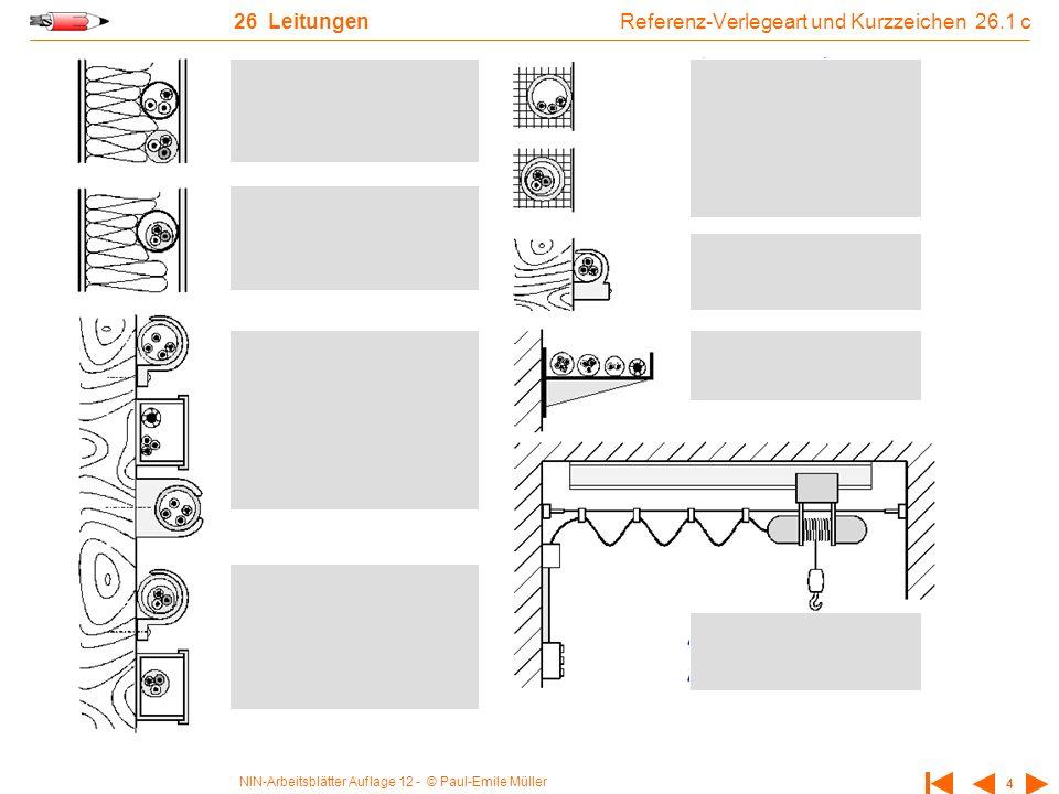 NIN-Arbeitsblätter Auflage 12 - © Paul-Emile Müller 4 26 Leitungen Referenz-Verlegeart und Kurzzeichen 26.1 c