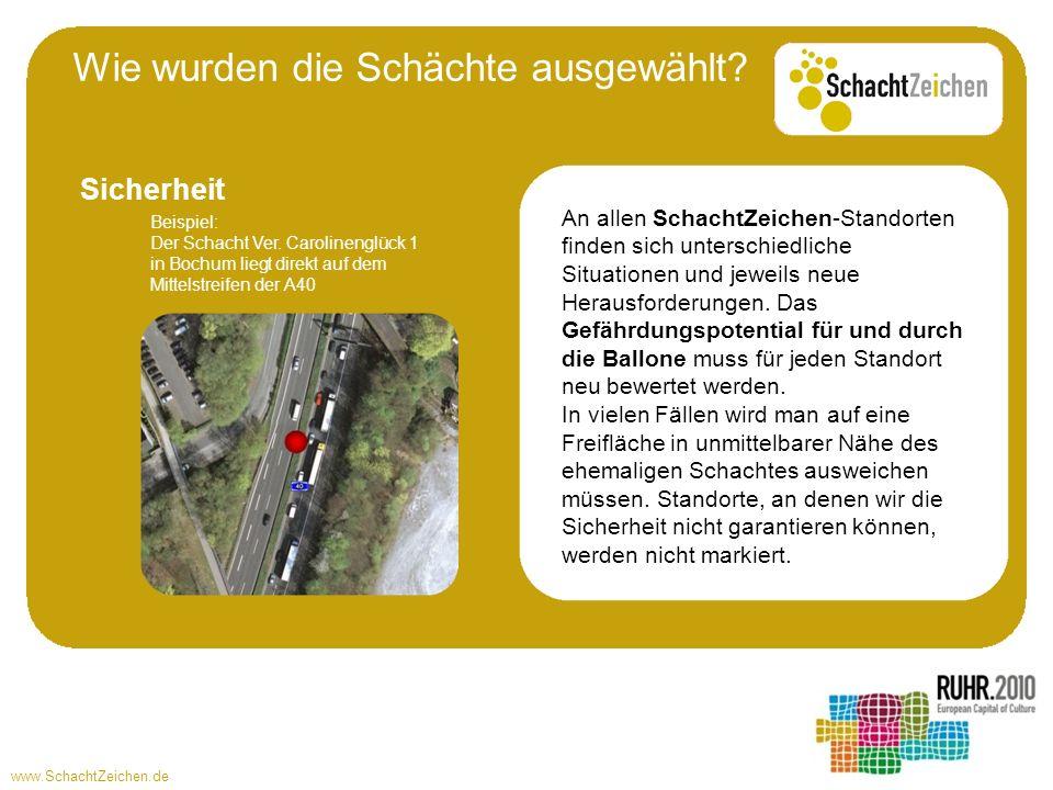 www.SchachtZeichen.de An allen SchachtZeichen-Standorten finden sich unterschiedliche Situationen und jeweils neue Herausforderungen. Das Gefährdungsp