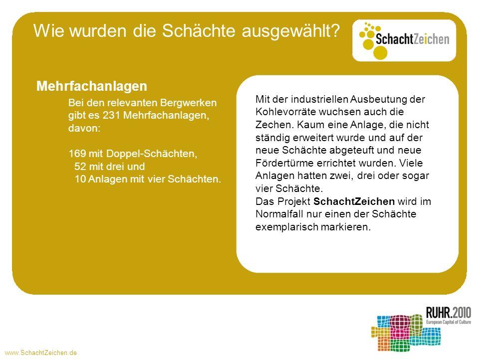 www.SchachtZeichen.de Mit der industriellen Ausbeutung der Kohlevorräte wuchsen auch die Zechen. Kaum eine Anlage, die nicht ständig erweitert wurde u