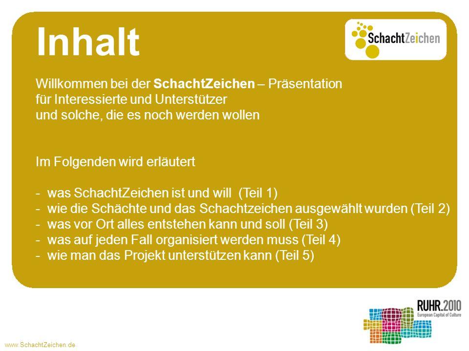 www.SchachtZeichen.de Was ist und will SchachtZeichen? Teil 1