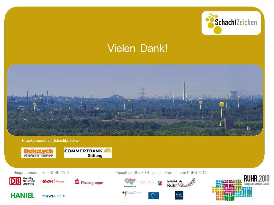 Vielen Dank! Projektsponsoren SchachtZeichen Hauptsponsoren von RUHR.2010Gesellschafter & Öffentliche Förderer von RUHR.2010