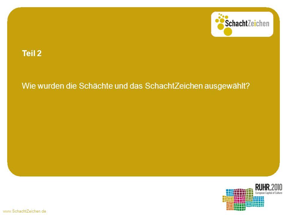www.SchachtZeichen.de Wie wurden die Schächte und das SchachtZeichen ausgewählt? Teil 2