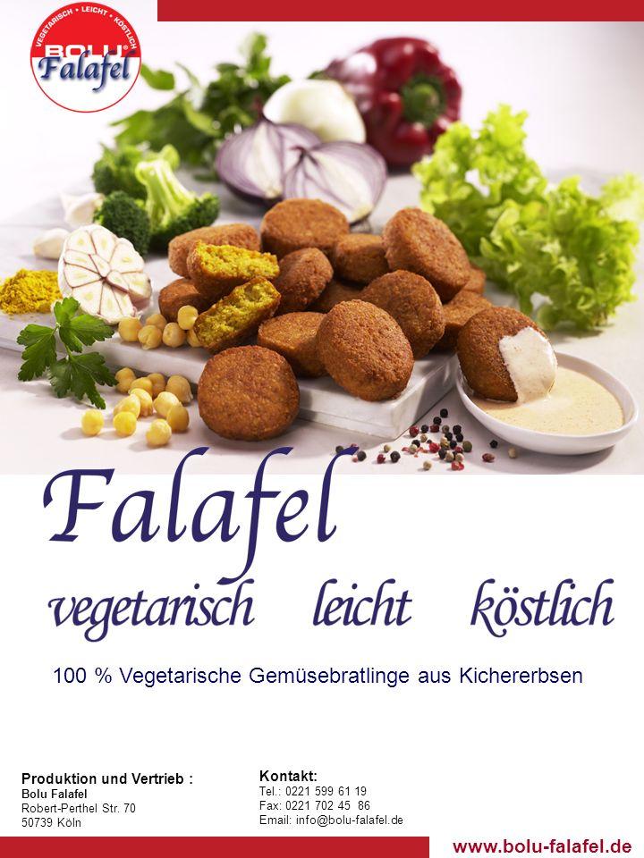 www.bolu-falafel.de Produktion und Vertrieb : Bolu Falafel Robert-Perthel Str.