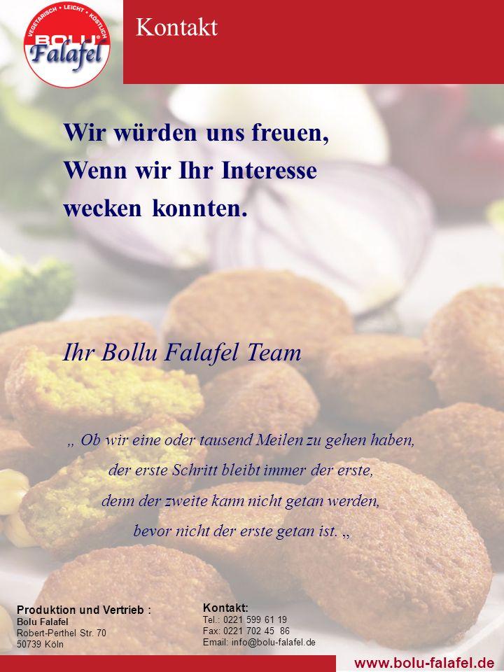 Produktion und Vertrieb : Bolu Falafel Robert-Perthel Str.