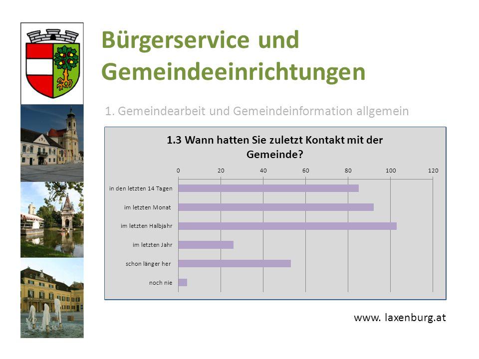 Bürgerservice und Gemeindeeinrichtungen 1. Gemeindearbeit und Gemeindeinformation allgemein www.