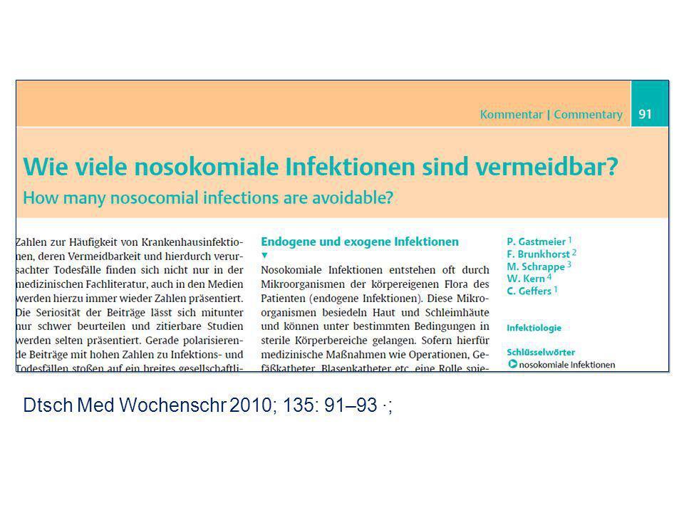 Dtsch Med Wochenschr 2010; 135: 91–93 ·;