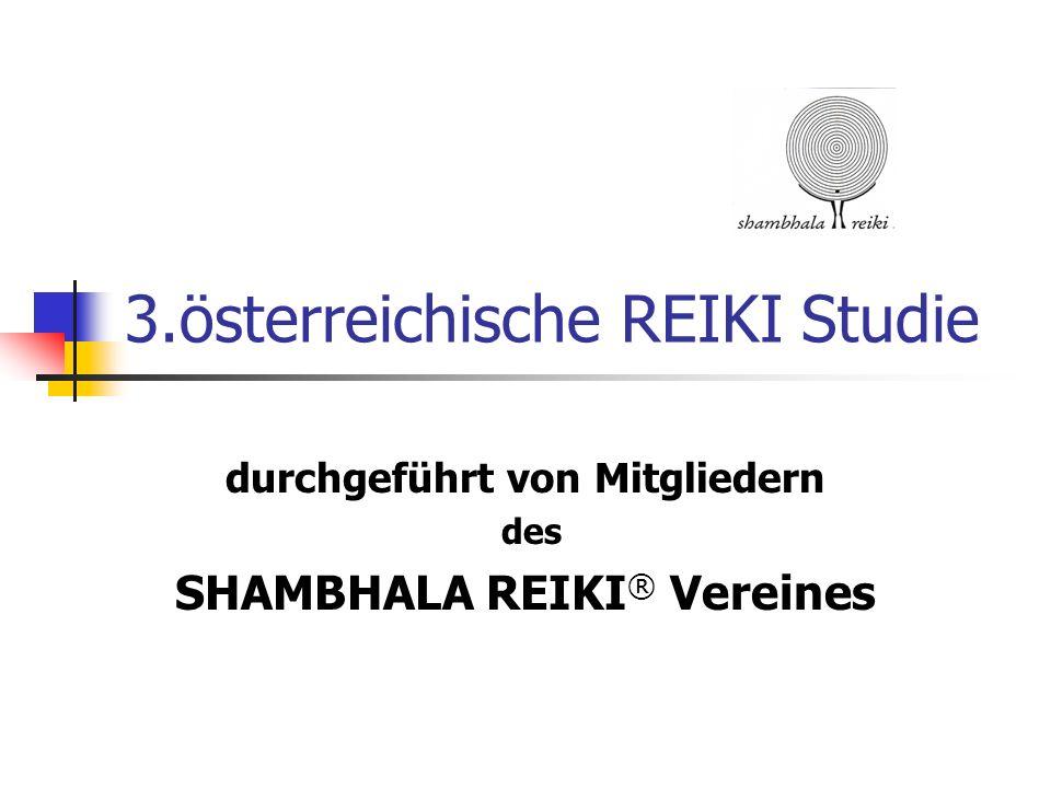 3.österreichische REIKI Studie durchgeführt von Mitgliedern des SHAMBHALA REIKI ® Vereines