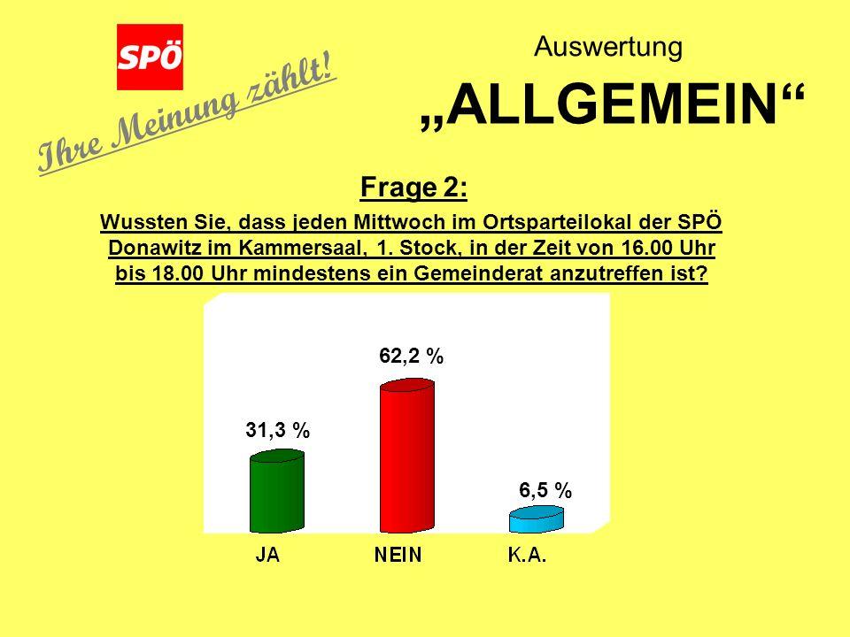 Wussten Sie, dass jeden Mittwoch im Ortsparteilokal der SPÖ Donawitz im Kammersaal, 1.