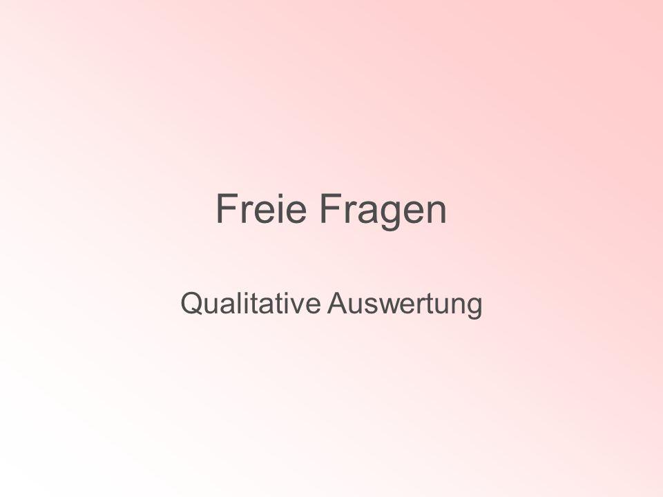 Freie Fragen Qualitative Auswertung