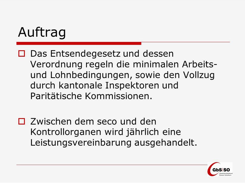 Auftrag Kantonales Aufsichtsorgan ist die Tripartite Kommission (KAP).