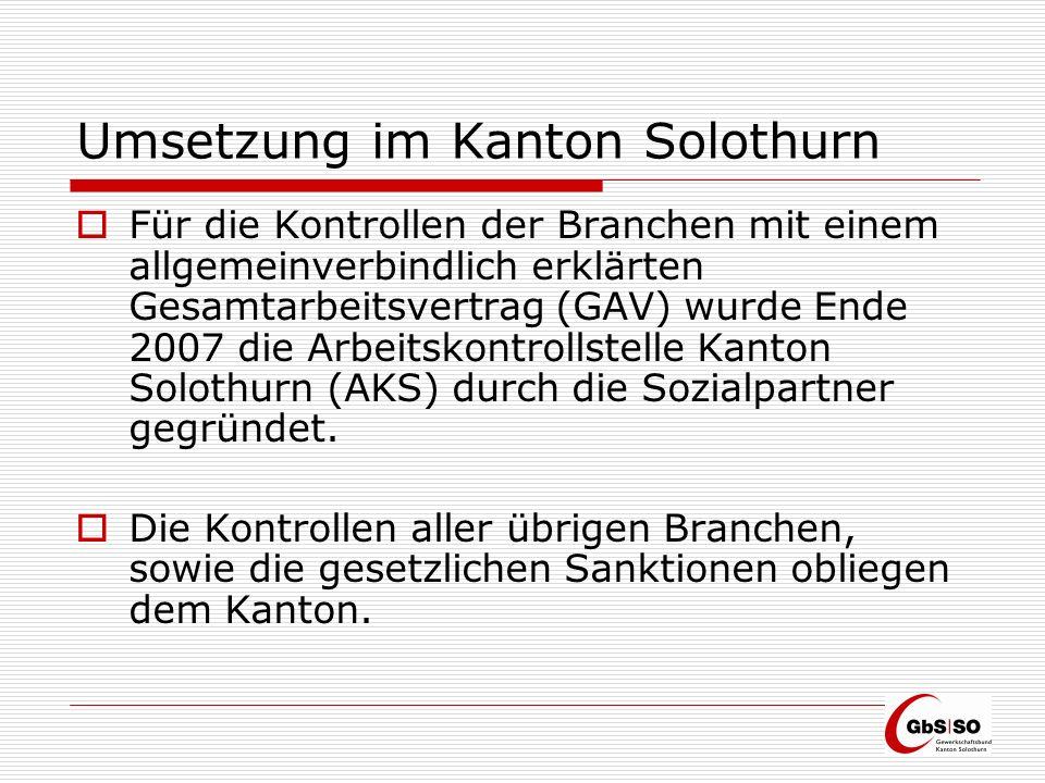 Organisation Kantonale Kontrollen Die kantonale Kontrollstelle ist beim Amt für Wirtschaft und Arbeit, Abteilung Arbeitsbedingungen angesiedelt und beschäftigt 3 Arbeitsmarktkontrolleure.