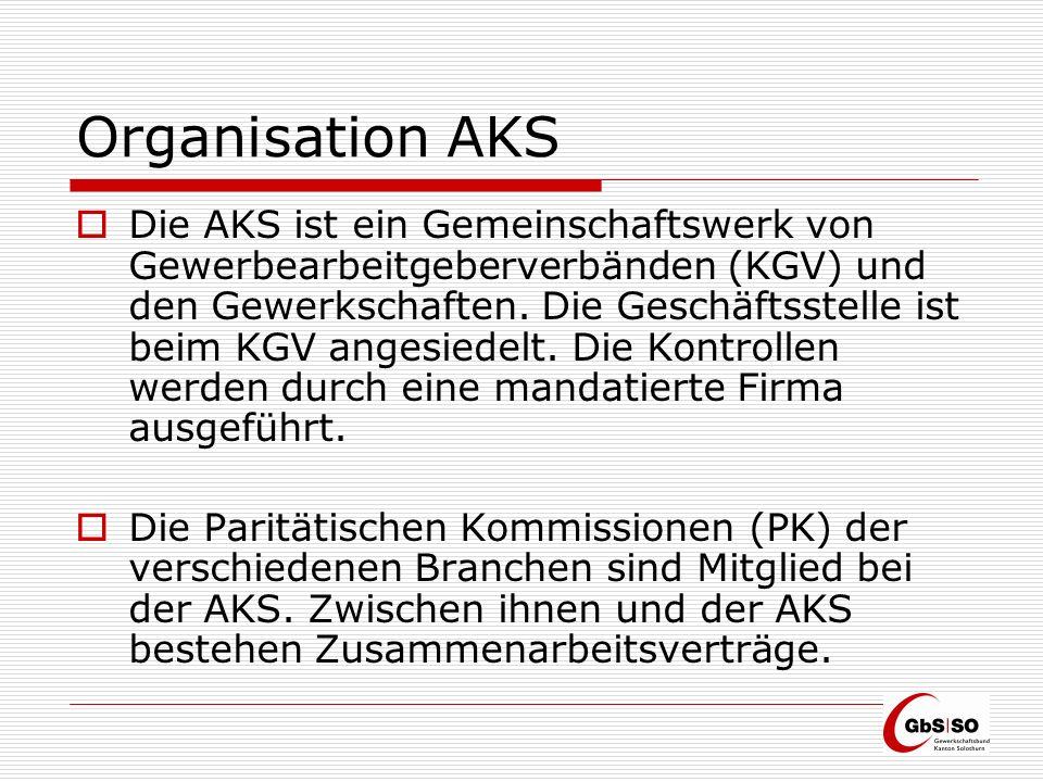 Organisation AKS Die AKS kontrolliert gemäss Auftrag des Gesetzes, trifft die notwendigen Abklärungen und stellt den PKs entscheidfähige Dossiers zu.
