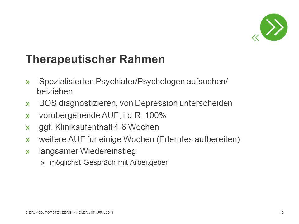 Therapeutischer Rahmen » Spezialisierten Psychiater/Psychologen aufsuchen/ beiziehen » BOS diagnostizieren, von Depression unterscheiden » vorübergehe