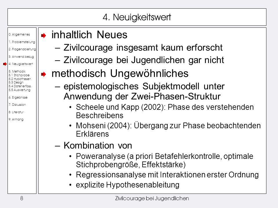 0.Allgemeines 1. Problemstellung 2. Fragenableitung 3.