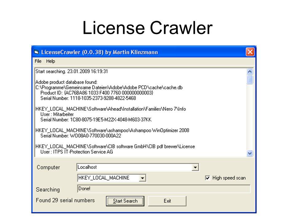 License Crawler