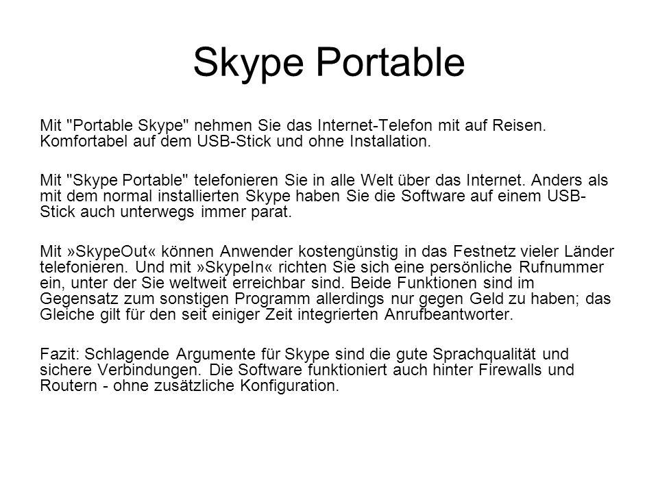Skype Portable Mit