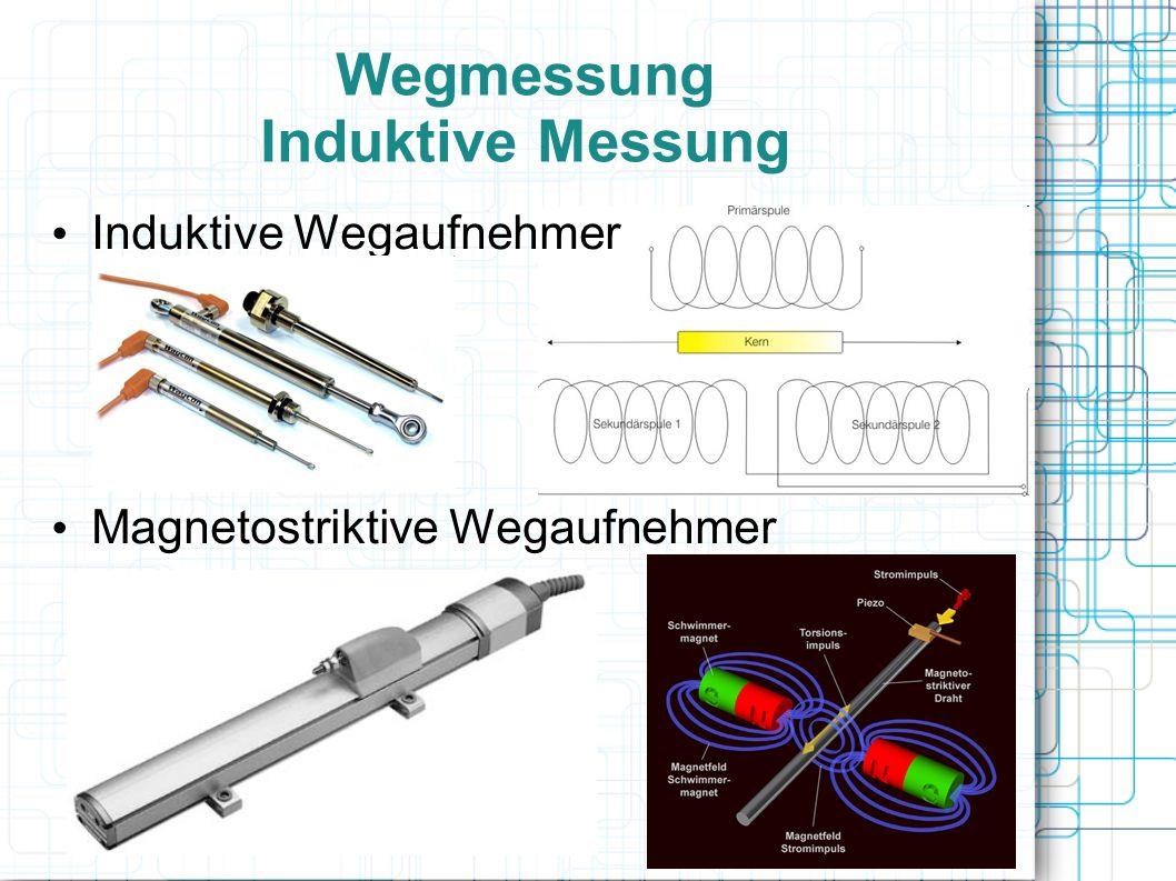Wegmessung Induktive Messung Wirbelstrom-Sensoren – Hochfrequente Wechselspannung – Wirbelstrominduzierung – Änderung der Spulenimpedanz