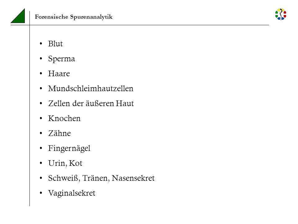 Forensische Spurenanalytik – Auswertung Identifikation unbekannter Leichen über persönliche Gebrauchsgegenstände über potentielle Angehörige über eventuell vorhandene Vergleichsproben von Arzt/Krankenhaus (Blut- / Gewebeproben)