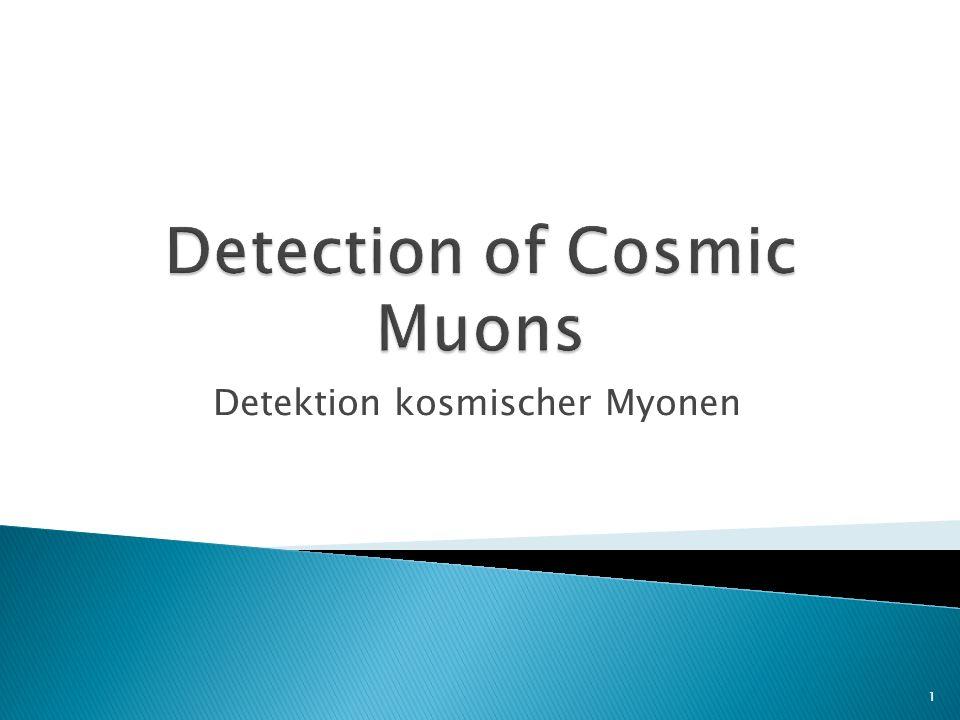 Detektion kosmischer Myonen 1