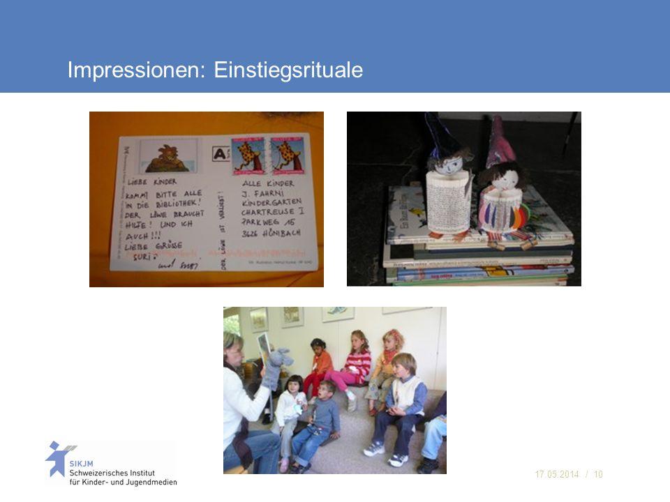 17.05.2014 / 10 Impressionen: Einstiegsrituale