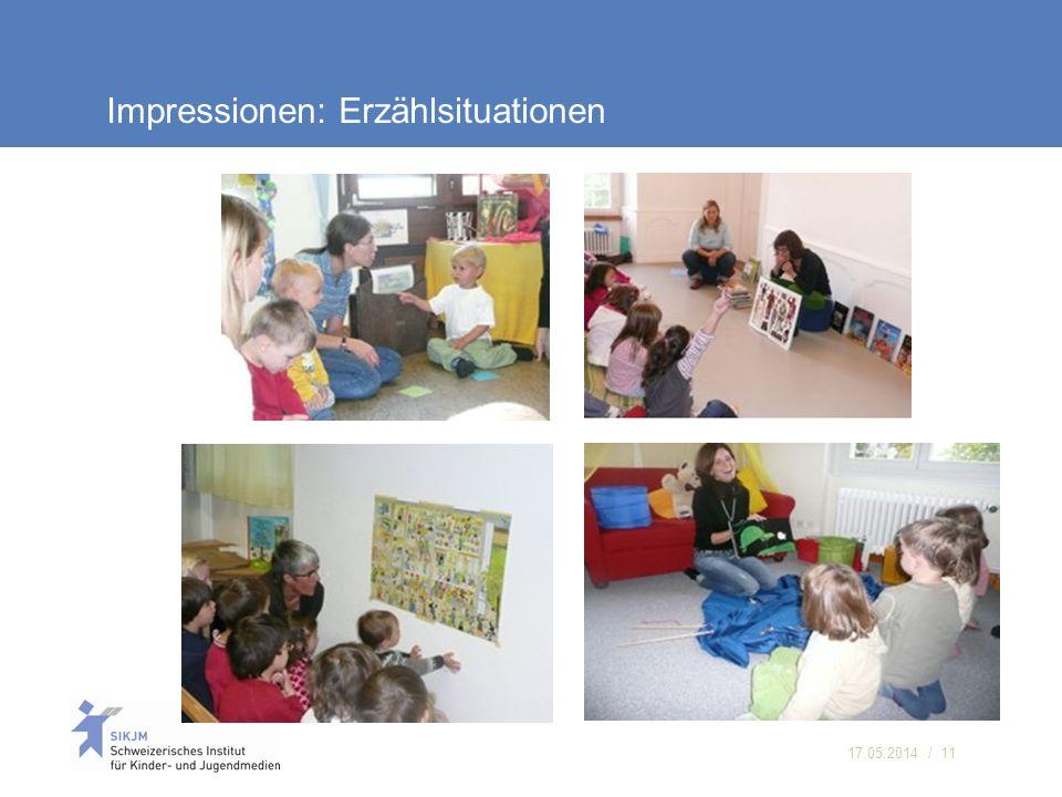 17.05.2014 / 11 Impressionen: Erzählsituationen