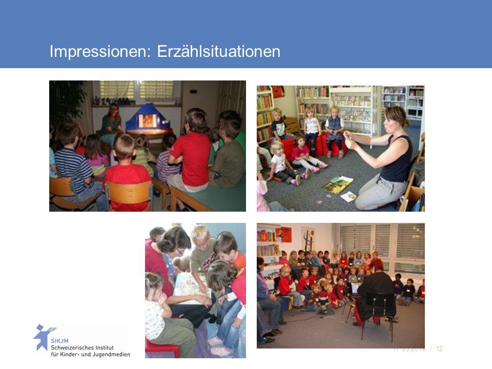 17.05.2014 / 12 Impressionen: Erzählsituationen