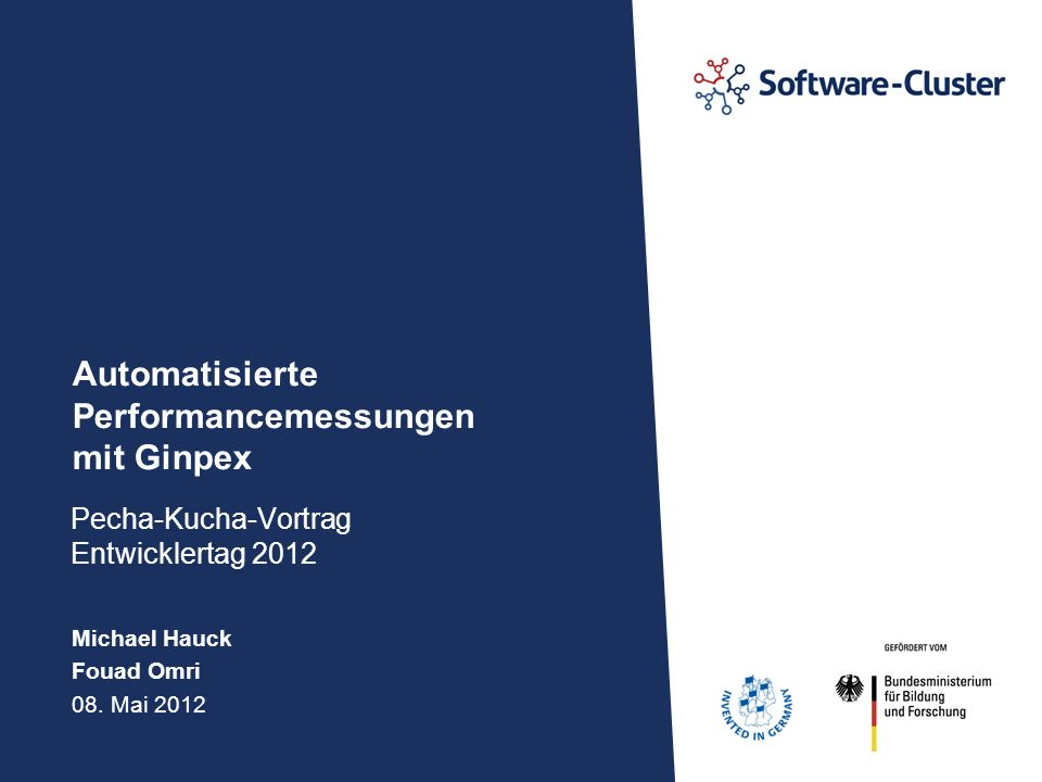 · Automatisierte Performancemessungen mit Ginpex · Seite 11 Towards Performance Evaluation of OpenStack Object Storage